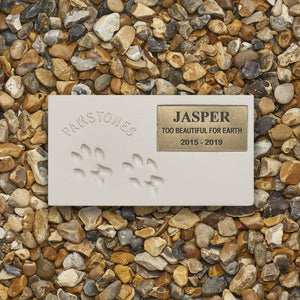 Pet Memorial Plaque - Pawstones - Personalised Pet Memorial Grave Marker Headstone Plaque