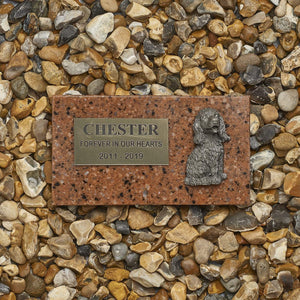 Pet Memorial Plaque - Personalised Pet Memorial Grave Marker Headstone Plaque - Granite With Resin Image