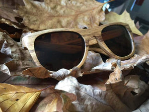 Sun Glasses - Persoanlised Zebrawood Sunglasses 035