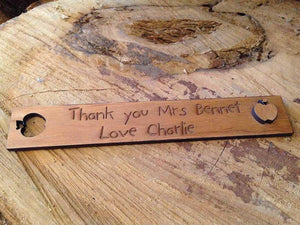 Book Mark - Personalised Wooden Bookmark 077