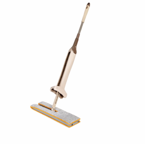 Clean your house twice as fast with this 2 in 1 self-cleaning brush and mop!