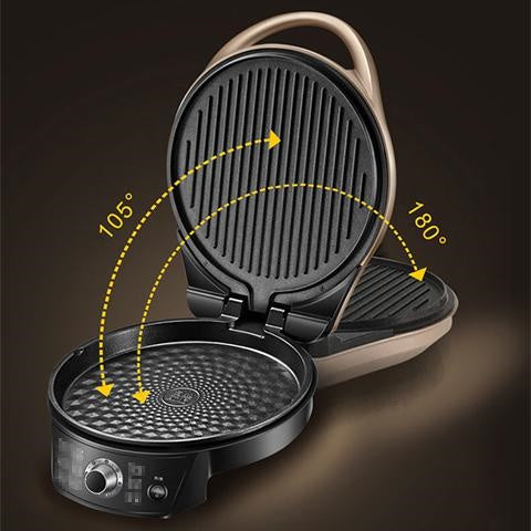 Electric Double-Sided Heating Pan: Cook your meals twice as fast!