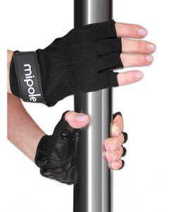 MiPole Dance Pole Gloves (Pair) Medium - Black | Lavish Sex Toys