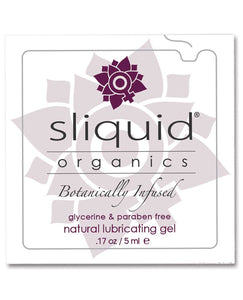 Sliquid Organics Natural Lubricating Gel - .17 oz Pillow | Lavish Sex Toys