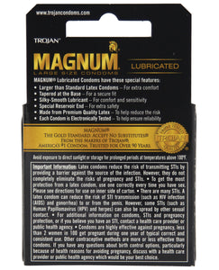 Trojan Magnum Condoms - Box of 3 | description