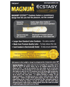 Trojan Magnum Ecstasy Condoms - Box of 10 | Lavish Sex Toys