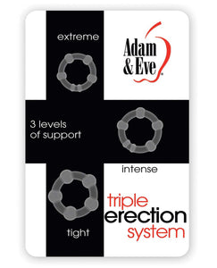 Adam & Eve Triple Erection System - Clear Pack of 3 | Lavish Sex Toys