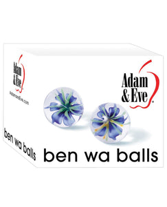 Adam & Eve Glass Ben Wa Balls - Clear | Lavish Sex Toys