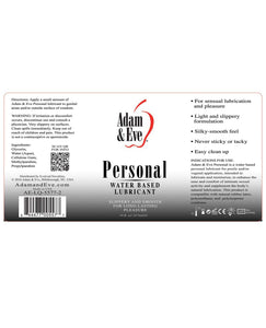 Adam & Eve Personal Water Based Lube - 16 oz | Lavish Sex Toys