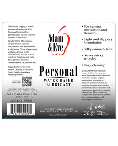 Adam & Eve Personal Water Based Lube - 8oz | Lavish Sex Toys