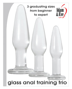 Adam & Eve Glass Anal Training Trio | Lavish Sex Toys