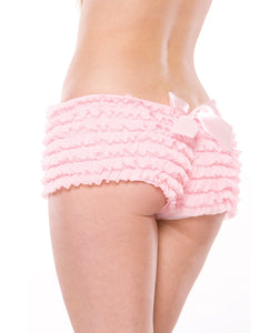 Ruffle Shorts w/Back Bow Detail - Pink