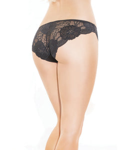 Low Rise Stretch Lace & Satin Panty - Black/Red | Lavish Sex Toys