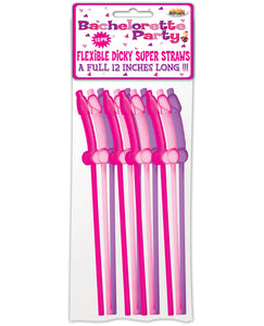 Bachelorette Party Flexy Super Straw - Pack of 10