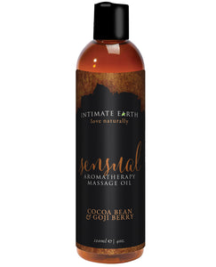 Intimate Earth Sensual Massage Oil - 120 ml Cocoa Bean & Gogi Berry | Lavish Sex Toys