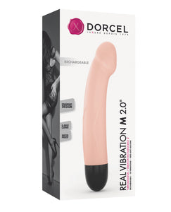 "Dorcel Real Vibration M 8.5"" Rechargeable Vibrator - Flesh"