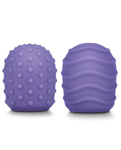 Le Wand Petite Silicone Texture Covers - Violet Pack of 2