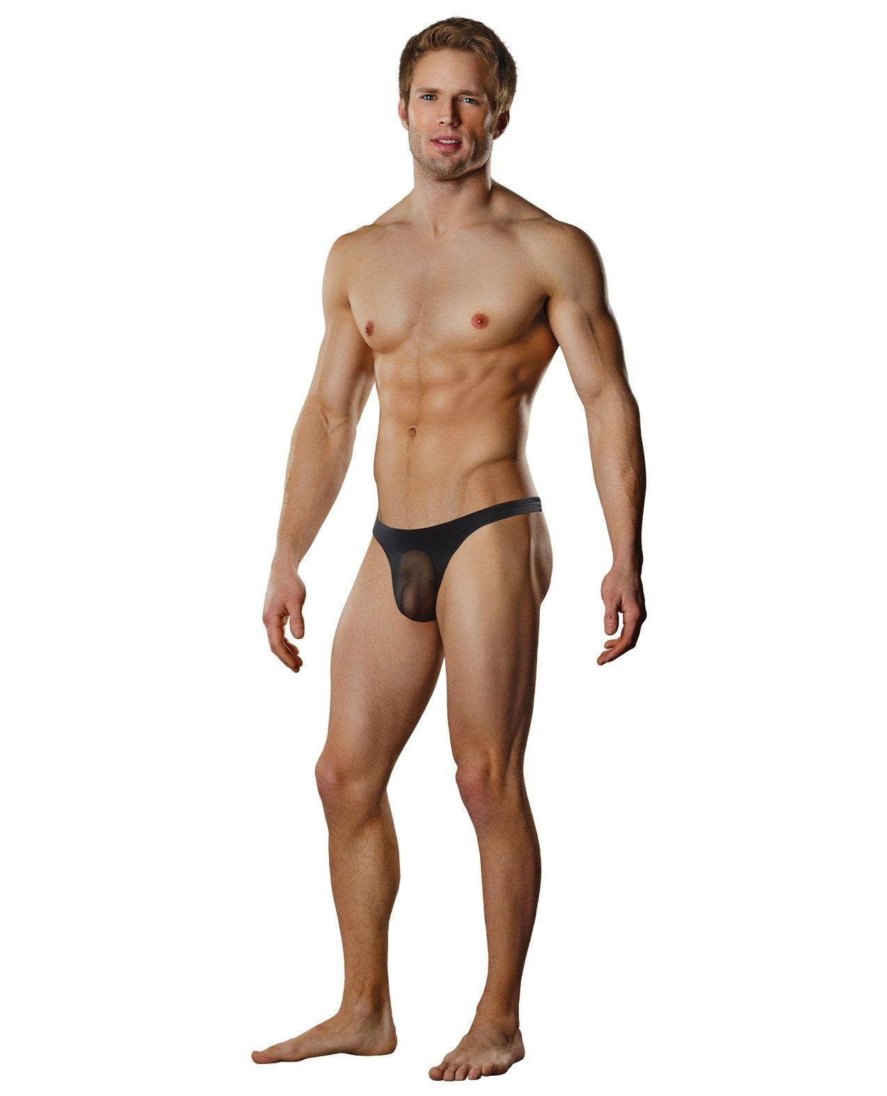 Male Power Bamboo Low Rise Pouch Enhancer Shorts Black