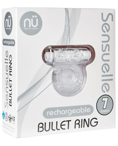 Sensuelle Bullet Ring Cockring - 7 Function Clear | Lavish Sex Toys