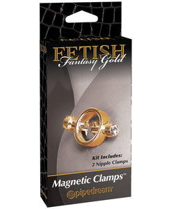 Fetish Fantasy Gold Magnetic Nipple Clamps - Gold | Lavish Sex Toys