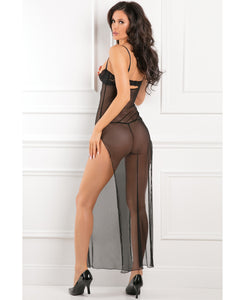 Rene Rofe All Out There Open Cup Dress - Black | Lavish Sex Toys