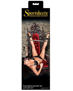 Sportsheets Expandable Spreader Bar & Cuffs Set | Lavish Sex Toys