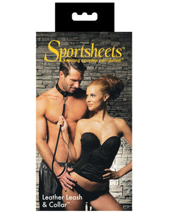 Sportsheets Leather Leash & Collar | Lavish Sex Toys