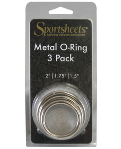 Sportsheets Metal O Ring - Pack of 3 | Lavish Sex Toys