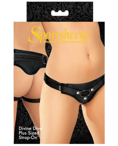 Sportsheets Divine Diva: Plus Size Harness - Black | Lavish Sex Toys