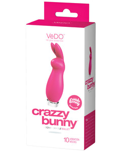 VeDO Crazzy Bunny Rechargeable Bullet - Pretty in Pink | Lavish Sex Toys