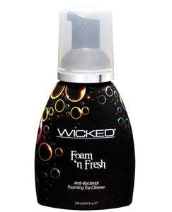 Wicked Sensual Care Foam N Fresh Anti-Bacterial Foaming Toy Cleaner - 8 oz | Lavish Sex Toys