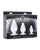 Master Series Triple Cones Anal Plug - Clear set of 3