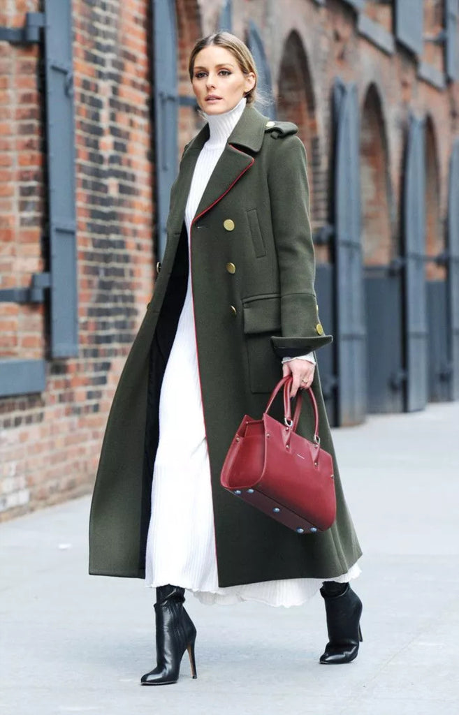 mad jade olivia palermo maxi coat long dress