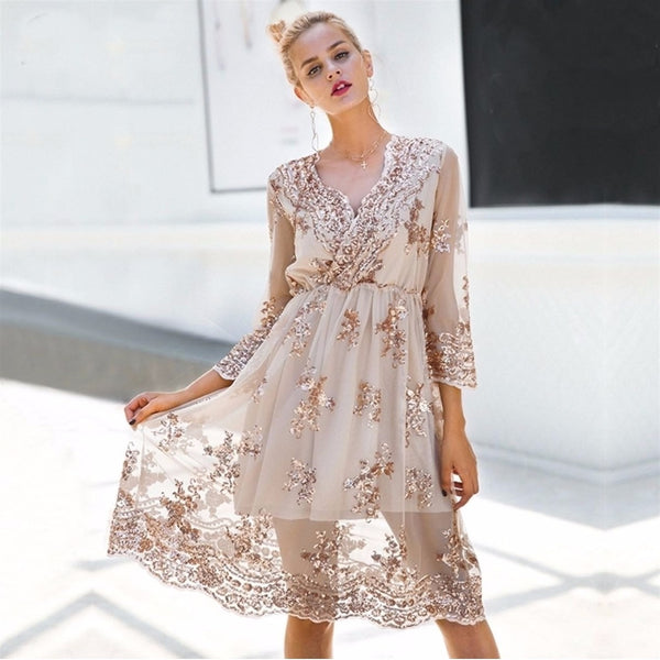 Beatrix Lace Pastel Pink Aesthetic Dress - Mad Jade