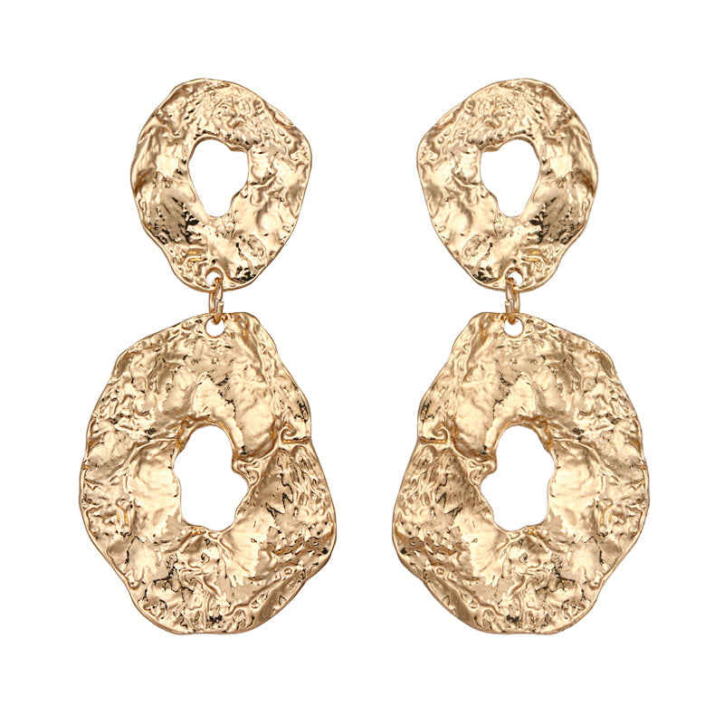 Darcey Chunky Earrings In Gold - Mad Jade