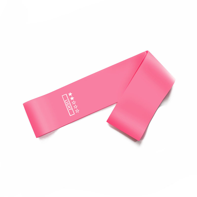 Light resistance band for exercising at home
