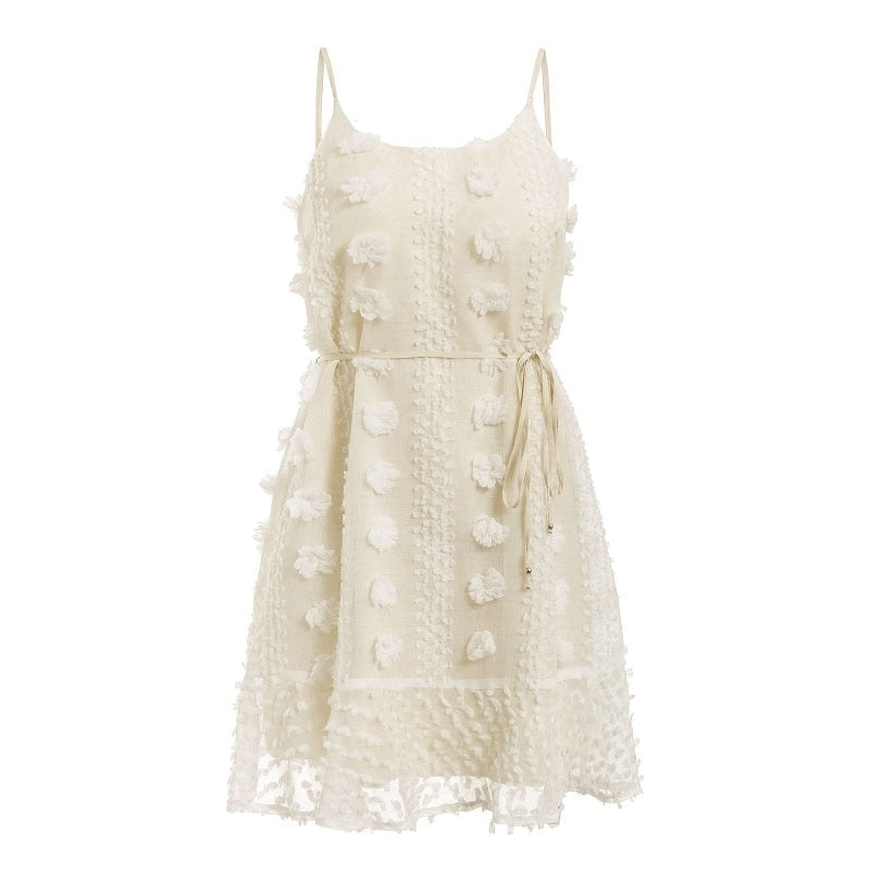 Lisette Flower Embroidery Mini Sundress