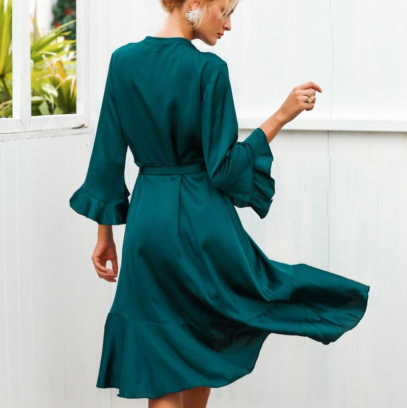Romy Short Emerald Green Dress - Mad Jade