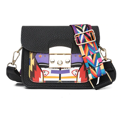 Nora Faux Leather Multicolor Crossbody Bag