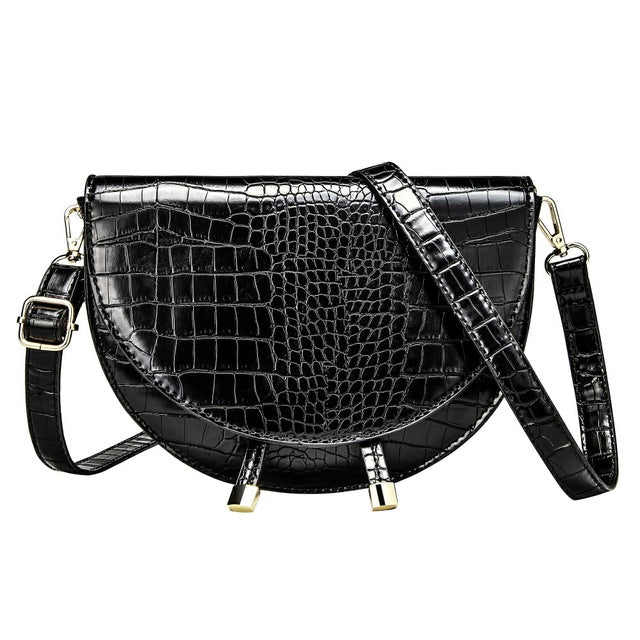 Cindy Crossbody Bag In Alligator Print - Mad Jade