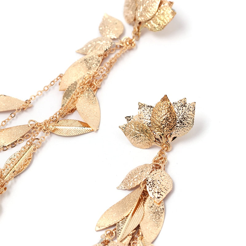 Zoe Irregular statement Earrings in Gold