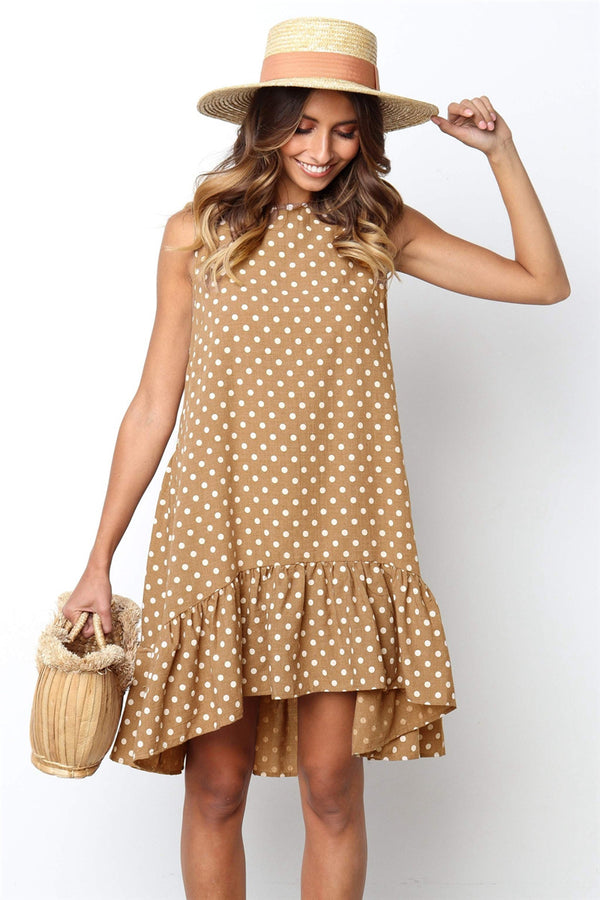 Evelyn Summer Polka Dot Dress For Women