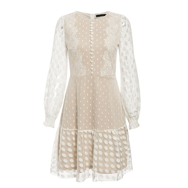 Molly Polka Dot Mini Dress with Puff Sleeves