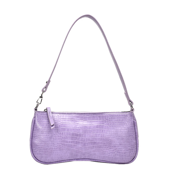 Erica Croc-Effect Shoulder Bag in Multiple Colors
