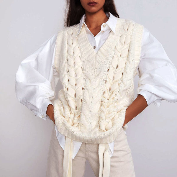 Susan Knitted Sweater Vest