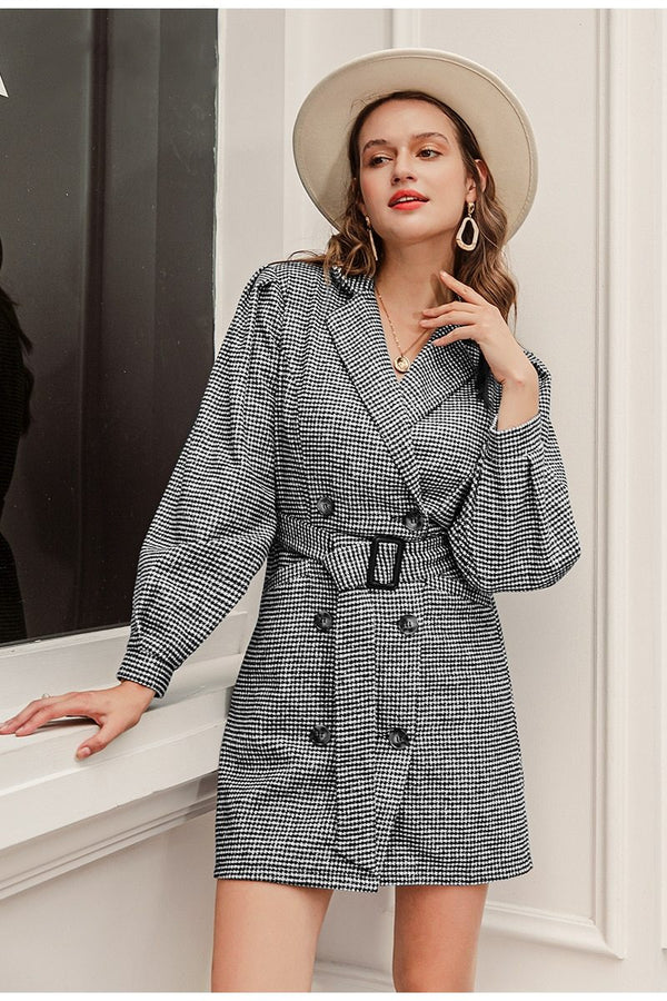 Amanda Belted Blazer Mini Dress