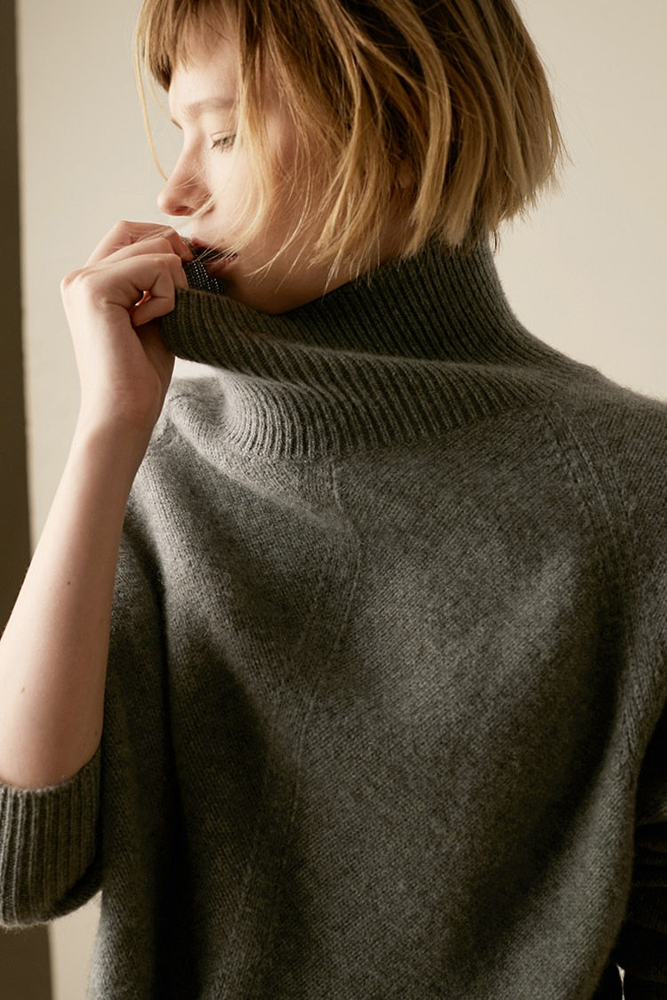 Judith Slouchy Neck Jumper in Multiple Colors