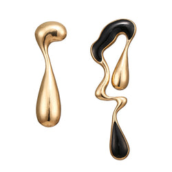 Palmer Asymmetric Drop Earrings In Gold - Mad Jade