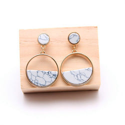 Marin Simple Drop Circle Earrings - Mad Jade