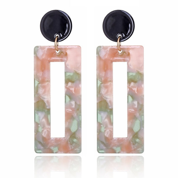 Tilda Rectangle Leopard Print Earrings - Mad Jade